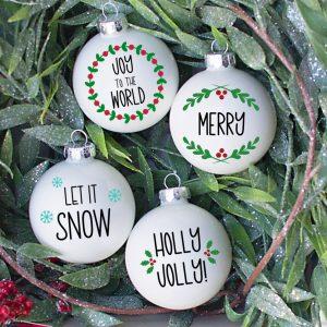 5 Piece Christmas Ornament Cut File Bundle