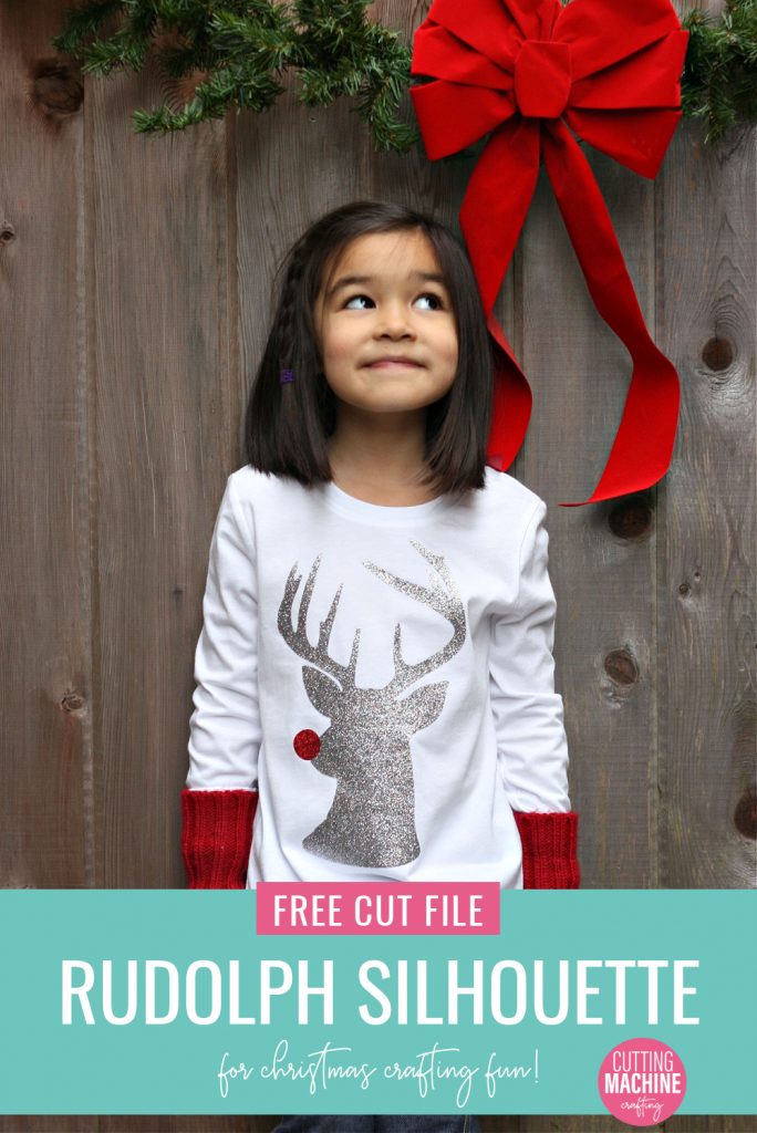 Ready to get some Christmas Crafting done with your Cricut or Silhouette? Download this free Rudolph The Red Nosed Reindeer SVG to make Christmas shirts, mugs, cards and more! #CutFile #SVGFile #ChristmasCrafts #ChristmasCrafting #Rudolph #Reindeer