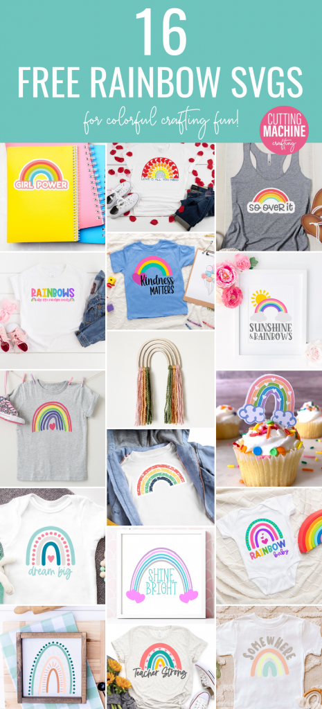 Download 16 free Rainbow cut files including a Rainbow Baby SVG File for making rainbow crafts with your Cricut or Silhouette! #RainbowCrafts #Rainbow #DIY #Crafts #CricutCreated #CricutMade #CricutMaker #Rainbowbaby