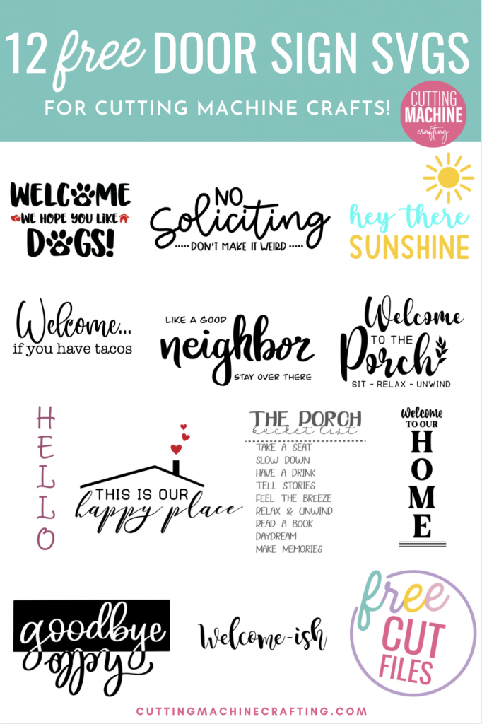Spread a bit of crafty happiness with this free Hey There Sunshine Cut File! So cute for DIY signs and beach totes! Download all 11 free welcome sign svgs for crafting with your Cricut Maker, Cricut Explore Air 2, Cricut Joy or other cutting machine! Make great handmade housewarming gifts!
