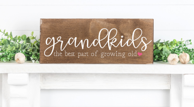 Create a beautiful handmade gift for grandma or grandpa with these 15 free grandparent cut files including Grandkids- The Best Part of Growing Old SVG. Perfect for making Mother's Day, Father's Day, birthdays and Christmas with your Cricut or Silhouette!