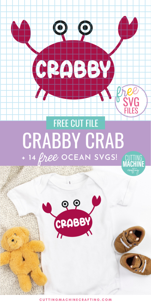 Get in the summer vibe with 14 free ocean SVGs from some of your favorite craft bloggers! Make shirts, tank tops, onesies, beach bags and more using your Cricut Maker, Cricut Explore Air 2, Cricut Joy or other electronic cutting machine. Includes an adorable Crabby Crab Cut File that looks so cute on DIY baby clothing!