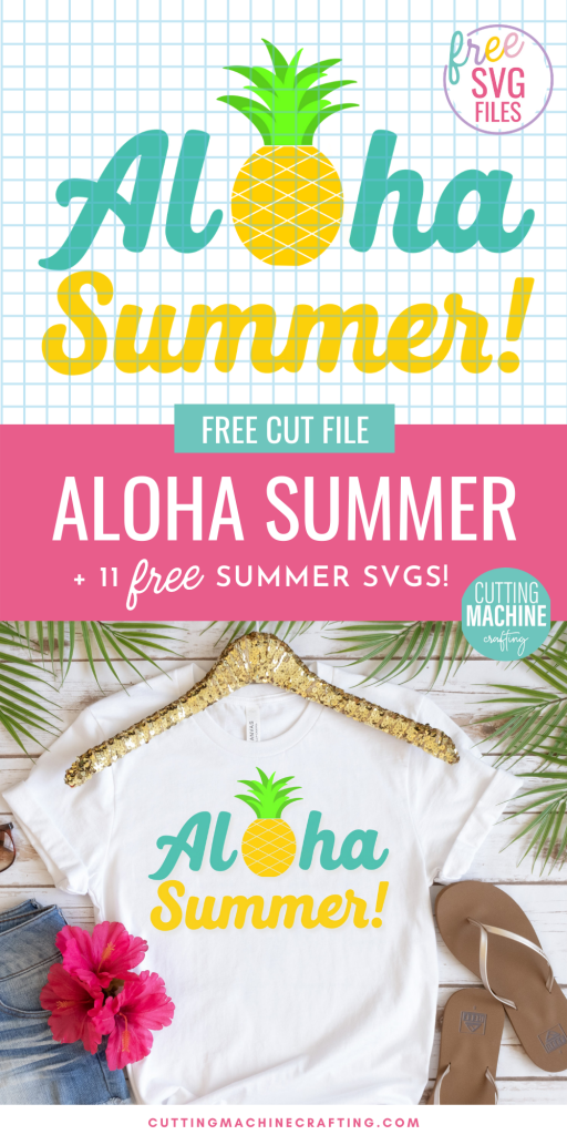 Get in the Aloha spirit with this summery Aloha SVG file along with 11 summer cut files from some of your favorite craft bloggers! Make shirts, tank tops, onesies, beach bags and more using your Cricut Maker, Cricut Explore Air 2, Cricut Joy or other electronic cutting machine.